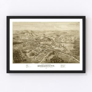Vintage Map of Morristown, New Jersey 1876