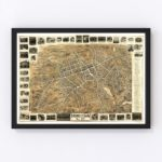 Vintage Map of Morristown, New Jersey 1899