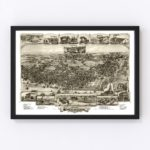 Vintage Map of Chester, Pennsylvania 1895