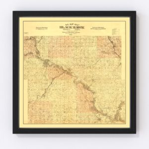Vintage Map of Black Hawk County, Iowa 1887