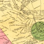 Vintage Map of Hart County, Georgia 1889