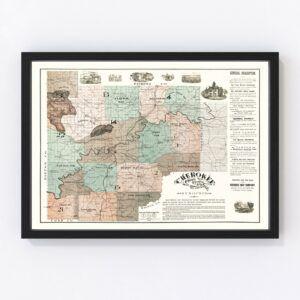 Vintage Map of Cherokee County, Georgia 1895