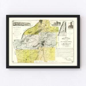 Vintage Map of Floyd County, Georgia 1895