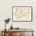 Vintage Map of Whiteside County, Illinois 1896