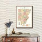 Vintage Map of Peoria County, Illinois 1904