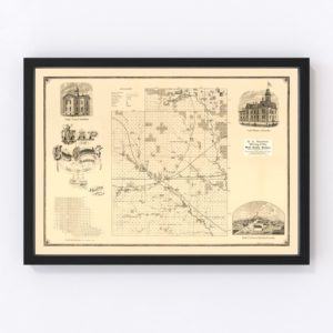 Vintage Map of Greenwood County, Kansas 1877