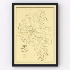 Vintage Map of Fayette County, Kentucky 1891