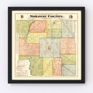 Vintage Map of Nodaway County, Missouri 1900