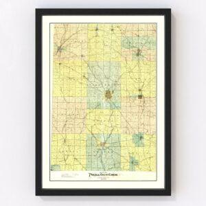 Vintage Map of Preble County, Ohio 1897