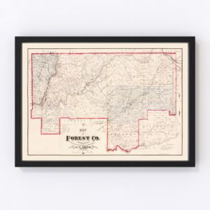 Vintage Map of Forest County, Pennsylvania 1881