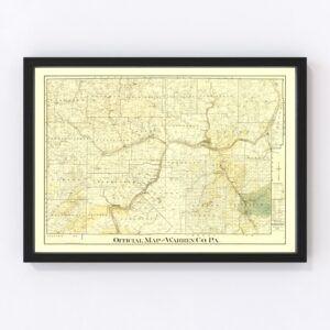 Vintage Map of Warren County, Pennsylvania 1900