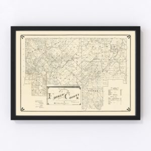 Vintage Map of Forest County, Pennsylvania 1895