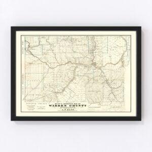 Vintage Map of Warren County, Pennsylvania 1865