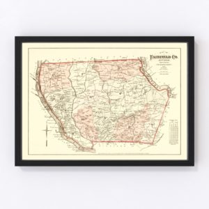 Vintage Map of Fairfield County, South Carolina 1876