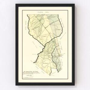 Vintage Map of Dorchester County, South Carolina 1900