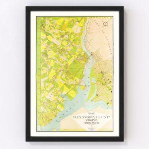 Vintage Map of Alexandria County, Virginia 1900