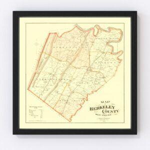 Vintage Map of Berkeley County, West Virginia 1894