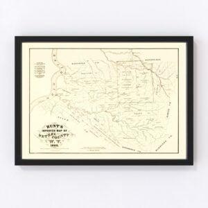 Vintage Map of Wetzel County, West Virginia 1865