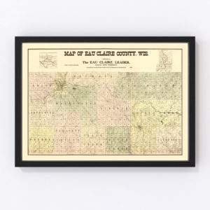 Vintage Map of Eau Claire County, Wisconsin 1902