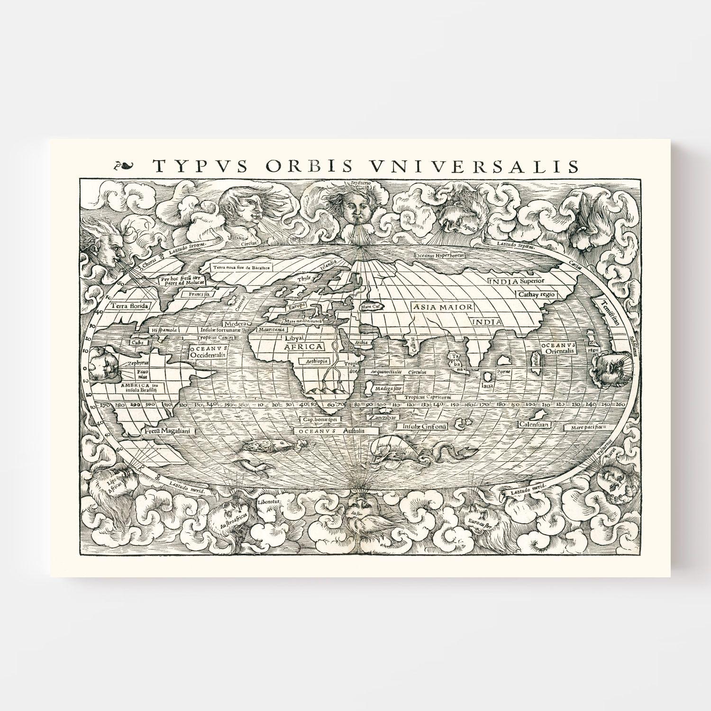 Vintage World Map 1540