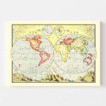 Vintage World Hemispheres 1906