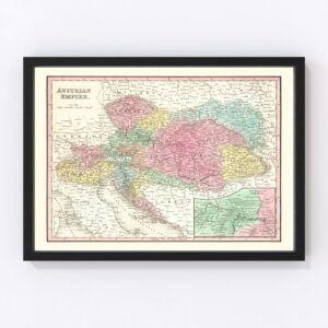 Vintage Map of Austria 1836