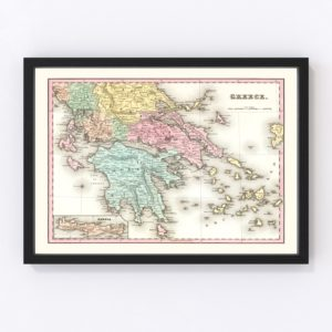 Vintage Map of Greece 1842