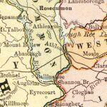 Vintage Map of Ireland 1883