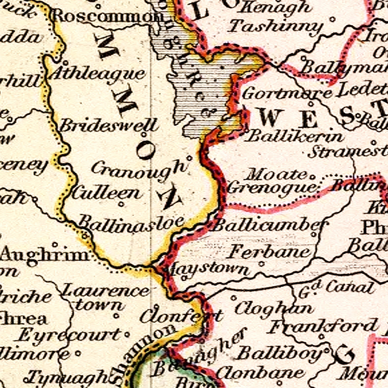 Vintage Map of Ireland 1832