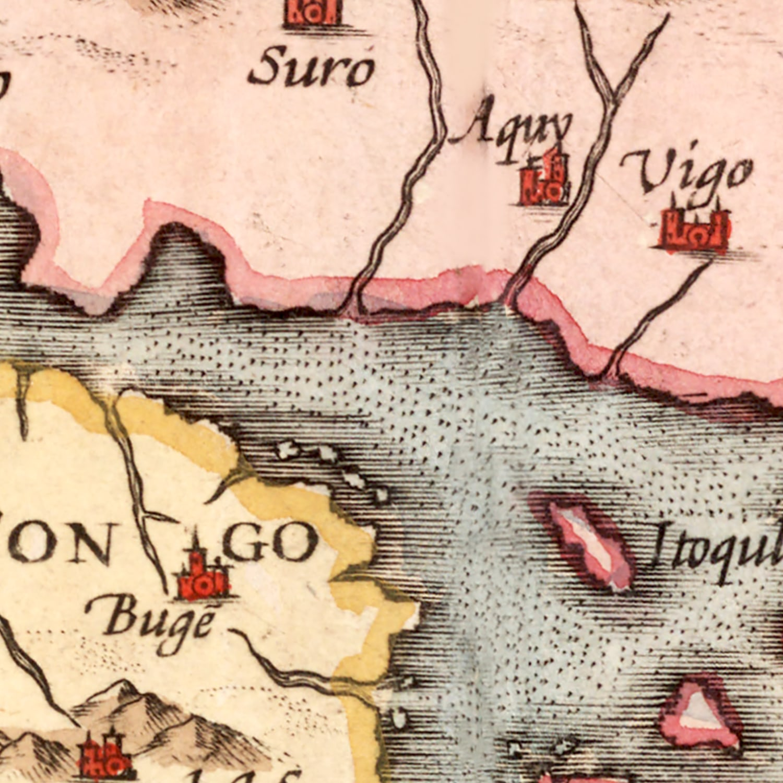 Vintage Map of Japan & Korea 1623
