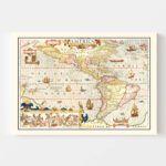 Vintage Map of America 1623