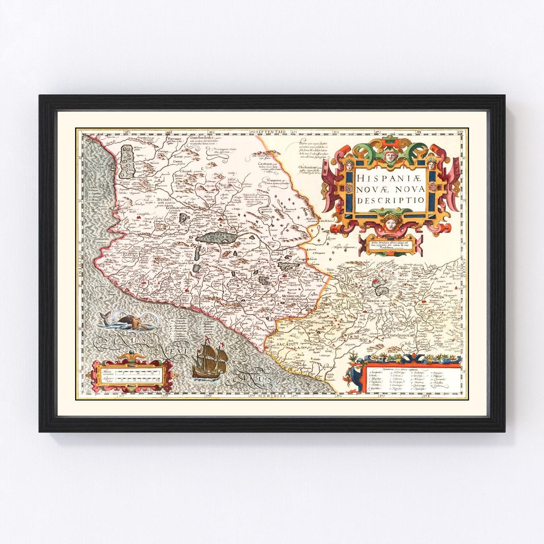 Vintage Map of Peru 1623