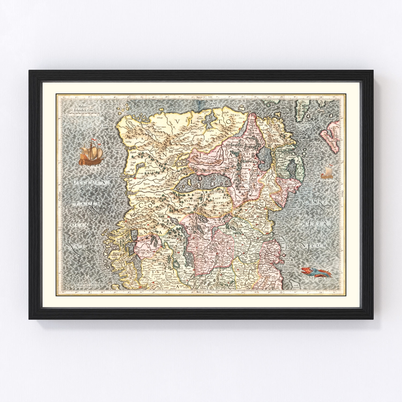Vintage Map of North Ireland 1623