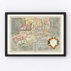 Vintage Map of The Kingdom of Ireland 1623