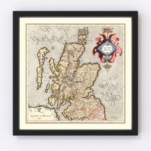 Vintage Map of Scotland 1623
