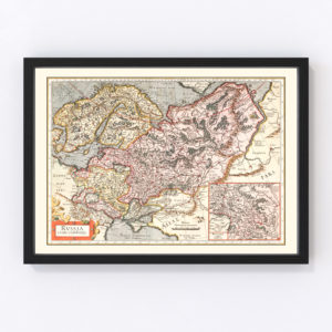 Vintage Map of Russia 1623