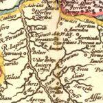 Vintage Map of Portugal 1623