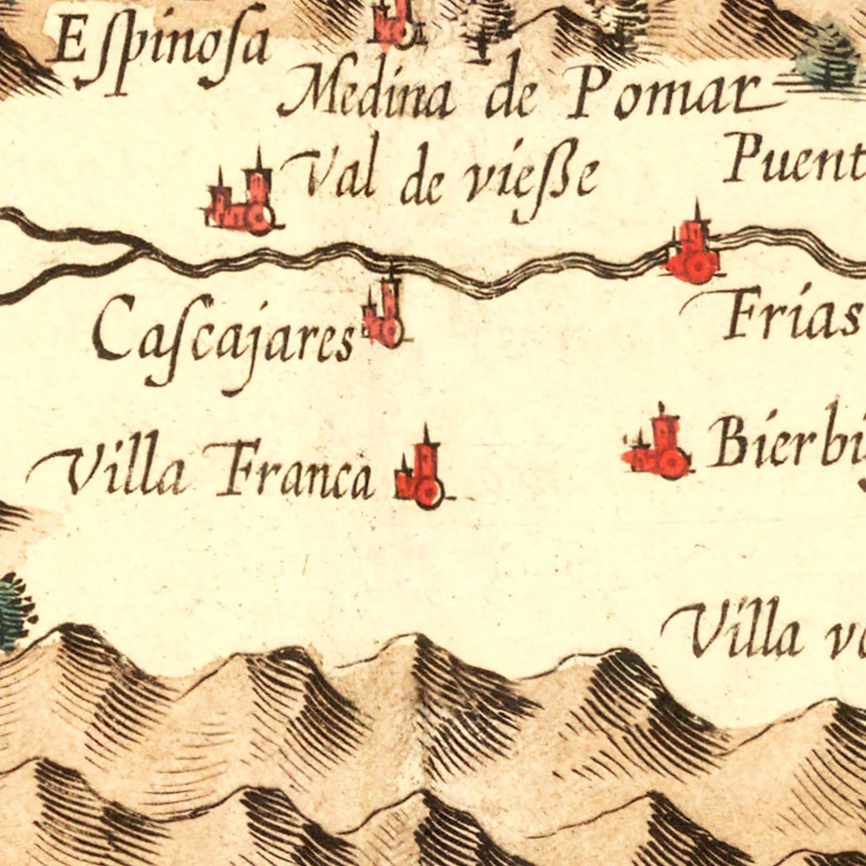 Vintage Map of Basque Regions of Spain, 1623