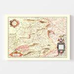 Vintage Map of Castille Spain, 1623