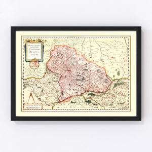 Vintage Map of Beauvais France, 1623