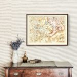 Vintage Map of Switzerland 1623