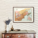 Vintage Map of Canada & Northern United States 1871