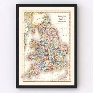 Vintage Map of England & Wales 1832