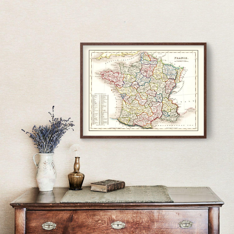 Vintage Map of France 1832