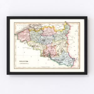 Vintage Map of Belgium 1832