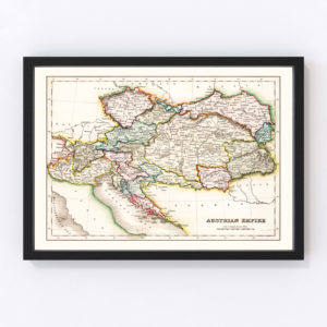 Vintage Map of Austrian Empire 1832