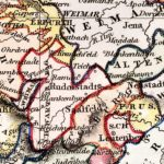 Vintage Map of Central Germany 1832