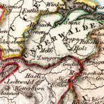 Vintage Map of Switzerland 1832