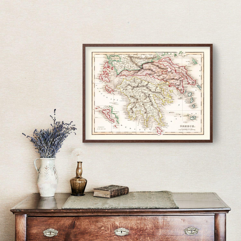 Vintage Map of Greece 1832