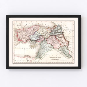 Vintage Map of Turkey in Asia 1832
